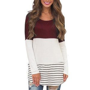 Tops - Back Lace Tunic Top Long Sleeve T-Shirt